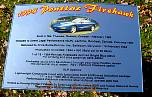 pontiac firehawk car show sign